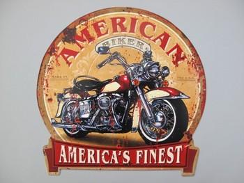 America's finest motor uitgesneden metalen bord  30 x 28 cm