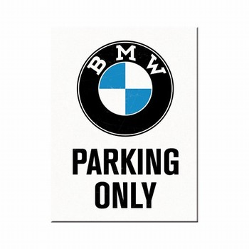 BMW Parking only magneet  8 x 6 cm