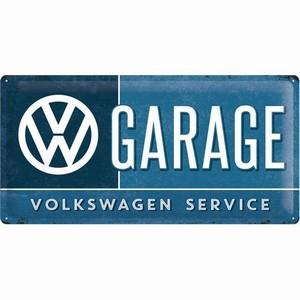 VW Volkswagen garage service groot relief  50 x 25 cm