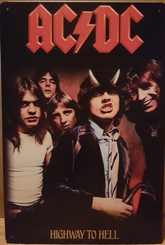 ACDC Highway to hell  30 x 20 cm