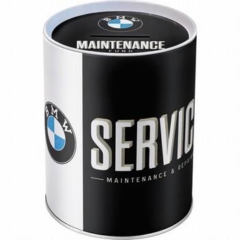 BMW Service maintenance en repair spaarpot metaal  10 x 13 cm