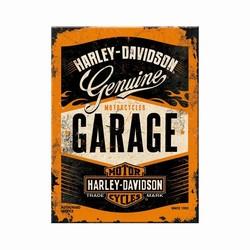 Harley Davidson Garage magneet 8 x 6 cm