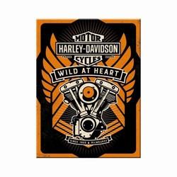 Harley Davidson wild at heart magneet 8 x 6 cm