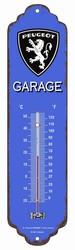 Peugeot garage thermometer metaal 30 x 6,5 cm