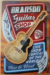 Branson's Gitaar shop metalen wandbord 30 x 20 cm