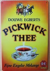 Pickwick thee fijne engelse melange metalen reclamebor 30 x 20 cm