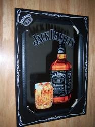 Jack Daniels whiskey fles spiegel 30 x 20 cm