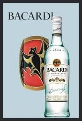 Bacardi fles spiegel 30 x 20 cm