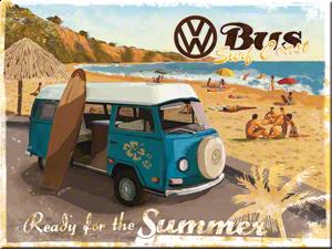 Magneet  Volkswagen VW Summer bus 8 x 6 cm