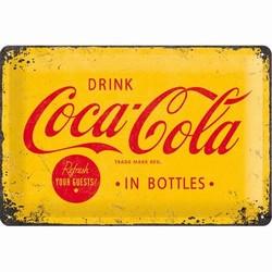 Coca cola geel logo relief 30 x 20 cm
