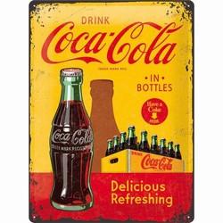 Coca cola geel rood delicious refreshing 40 x 30 cm