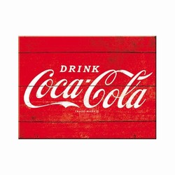 Coca cola rood logo Magneet 8 x 6 cm