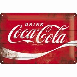 Coca cola rood logo wave Reliëf 30 x 20 cm