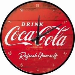 Coca cola rode logo refresh your self wandklok 31 cm