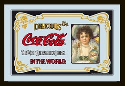 Coca cola nostalgische vrouw spiegel 30 x 20 cm