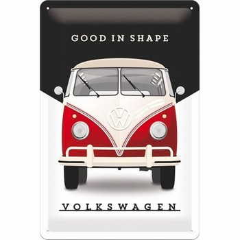 VW volkswagen good in shape metalen wandbord relief