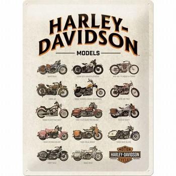 Harley davidson Models relief wandbord
