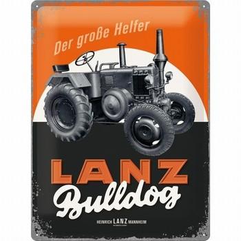 Lanz bulldog metalen wandbord relief