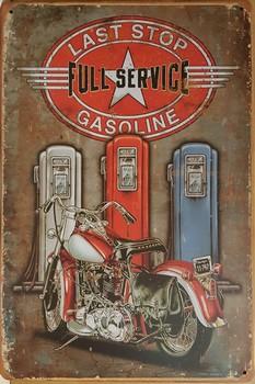 Last stop full service benzinepompen motor metalen rec