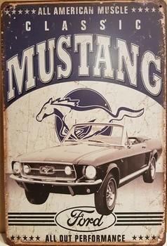 Mustang classics blauw grijs alle american muscle meta