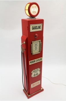 Grote amerikaanse pomp houten dvd kast met lamp