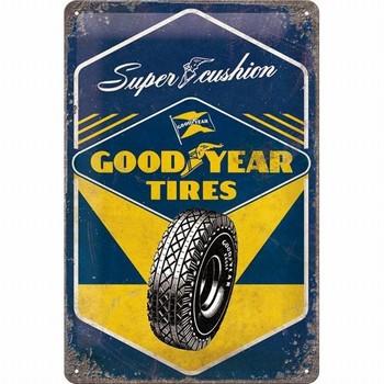 Goodyear super cushion banden metalen relief bord