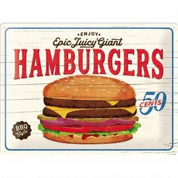 Hamburgers epic juicy giant relief wandbord