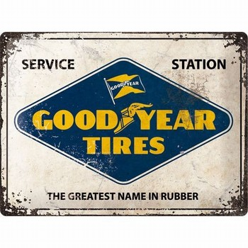 Goodyear tires banden sevice station relief wandbord metaal