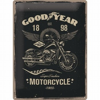 Goodyear autobanden motorcycle tires metalen relief bord