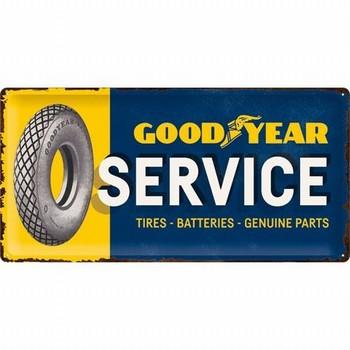 Goodyear service autobanden metalen wandbord relief