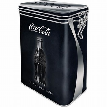 Coca cola sign good taste voorraadblik clip box  18 x 11 x 7cm
