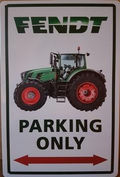 Fendt Parking only metalen wandbord
