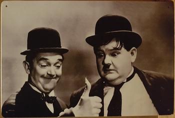 Laurel en Hardy foto horizontaal