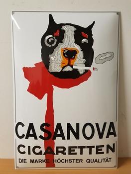 Casanova cifaretten emaille reclamebord  60 x 40 cm