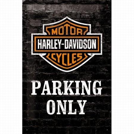 Harley Davidson Parking only relief wandbord