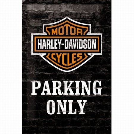 Harley Davidson Parking only relief wandbord