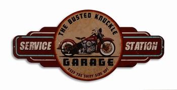 Motor garage service station metalen wandbord