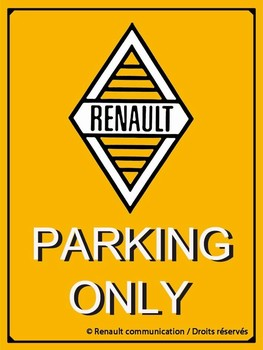 Renault parking only relief