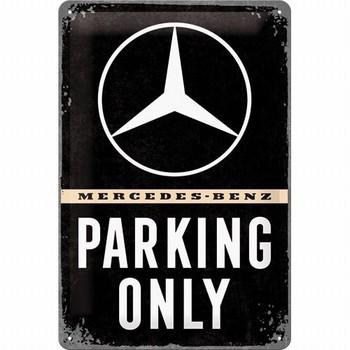 Mercedes Parking only metalen reclamebord relief