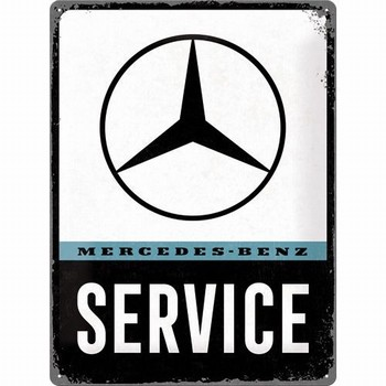Mercedes service metalen reclamebord relief
