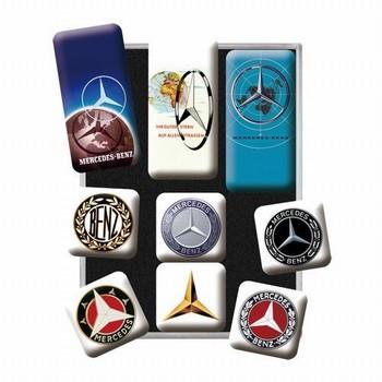 Mercedes set van 9 magneetjes