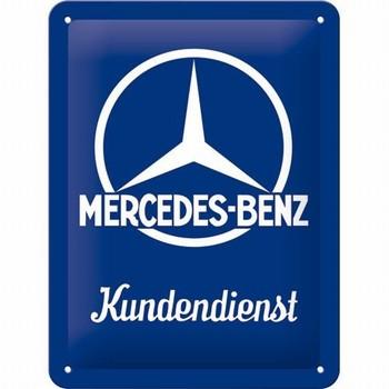 Mercedes kundendienst metalen reclamebord
