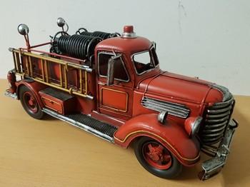 Brandweer auto amerikaans groot model  40x7cm