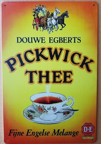 Pickwick thee fijne engelse melange metalen reclamebor  30 x 20 cm