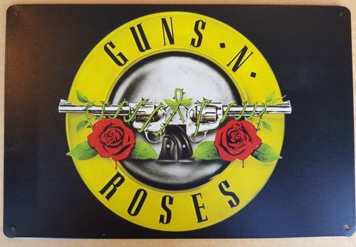 Guns and Roses metalen wandbord