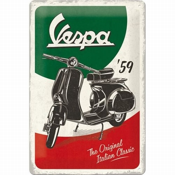 Vespa 59 the original metalen reclamebord