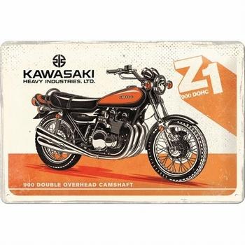 Kawasaki zi 900 dohc metalen relief bord