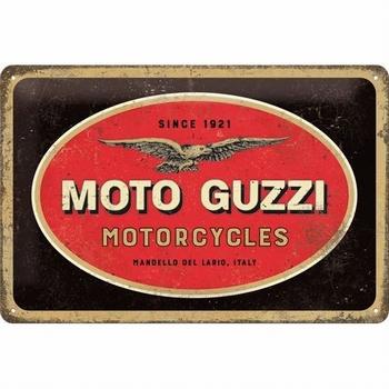 Moto Guzzi logo motorcycles metalen relief bord