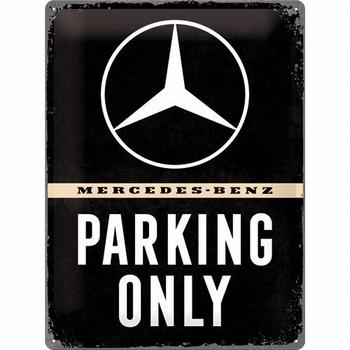 Mercedes benz parking only groot metalen reclamebord