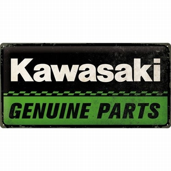 Kawasaki Genuine parts metalen reclamebord relief